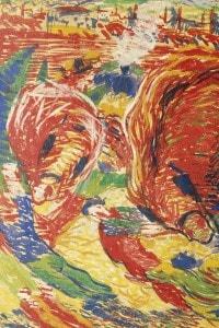 La città che sale, olio su tela del pittore futurista Umberto Boccioni