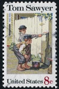 Francobollo raffigurante Le avventure di Tom Sawyer