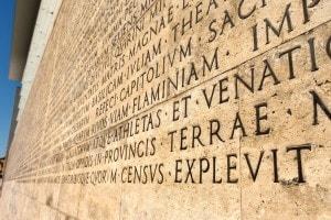 L'incisione delle Res Gestae divi Augusti