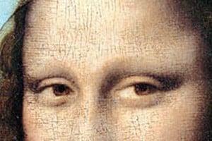 Dettaglio degli occhi dela Gioconda