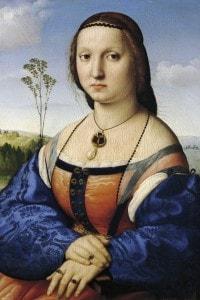 Ritratto di Maddalena Strozzi, 1506, Raffaello Sanzio