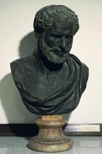 Busto raffigurante il filosofo Democrito