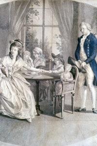 """Illustrazione per l'edizione del 1774 de """"I dolori del giovane Werther"""", scritto da Goethe"""