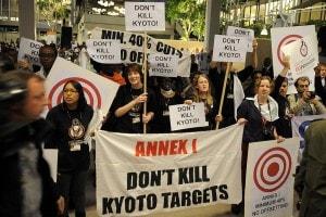 Manifestazione a favore del Protocollo di Kyoto