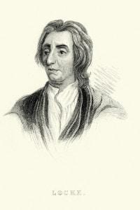 Illustrazione che rappresenta il filosofo John Locke