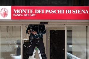 Una filiale della banca dei Monti dei Paschi di Siena