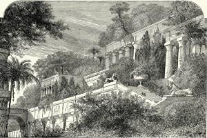 Come sarebbero dovuti essere i giardini pensili di Babilonia, una delle sette meraviglie del mondo antico