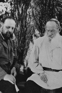 Tolstoj con il suo segretario Vladimir Chertkov