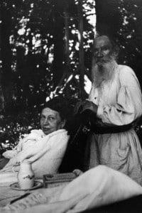 Tolstoj e la moglie Sofya nel 1906
