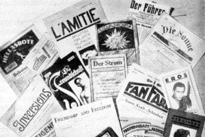 Giornali e riviste che testimoniano il razzismo e l'antisemitismo della Germania nazista