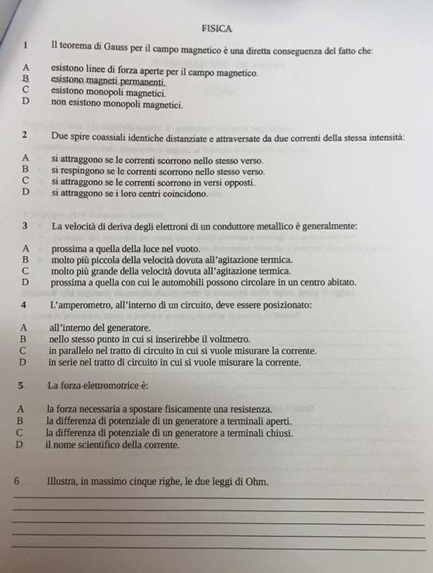 Esempio terza prova maturità 2018 e simulazioni | Studenti.it