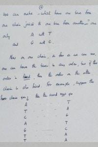 Una pagina del biologo Francis Crick sul DNA