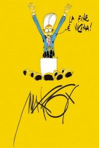 Una delle vignette di Makkox, esponente della satira contemporanea