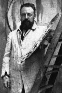 Foto di Henri Matisse nel suo studio parigino