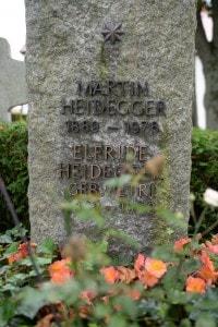 La lapida di Martin Heidegger a Messkirch