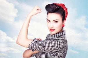 La riproposizione in chiave moderna di un'immagine simbolo del femminismo