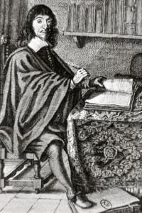 Ritratto di Cartesio nel suo studio