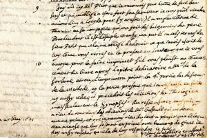 Una delle lettere di Cartesio, riguardante le Meditazioni metafisiche