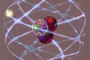 Rappresentazione grafica di un atomo di trizio