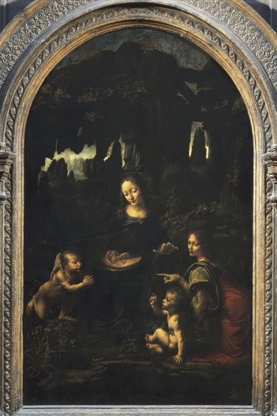 """""""Vergine delle rocce"""", 1483-1490, Leonardo da Vinci"""