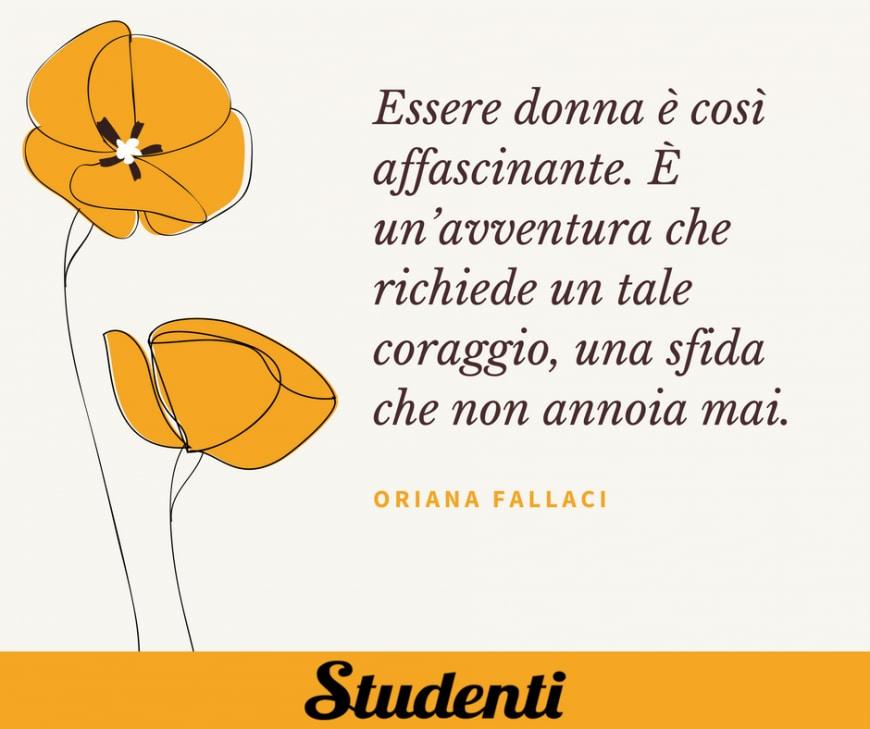 Frasi festa delle donne - Oriana Fallaci