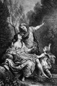 Illustrazione raffigurante Angelica e Medoro