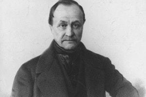 Auguste Comte, esponente del positivismo