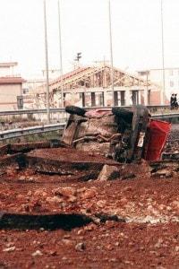 23 maggio 1992: foto della strage di Capaci