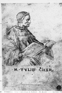 Marco Tullio Cicerone. Disegno di Raffaello conservato alle Gallerie dell'Accademia a Venezia