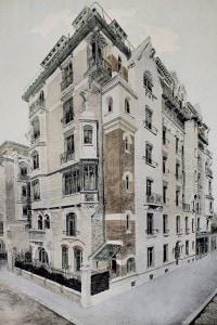 Litografia raffigurante il Castel Béranger