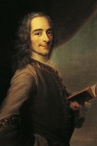 Ritratto di Voltaire, scrittore e filosofo francese