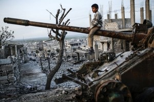 Bambino a Kobane