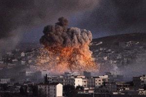 Guerra in Siria, esplosione a Kobani