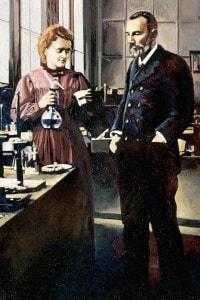 Pierre e Marie Curie, premio Nobel per i suoi studi sulle radiazioni
