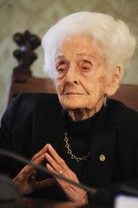 Rita Levi Montalcini (Torino, 22 aprile 1909 - Roma, 30 dicembre 2012)