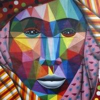 Murale dello street artist Okuda