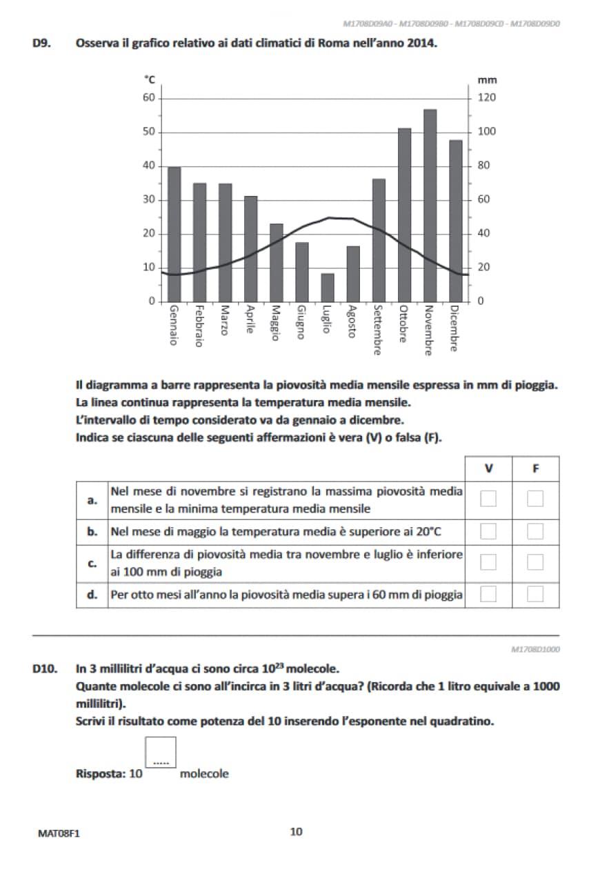 Domande matematica Invalsi terza media 2017 | Prove ...