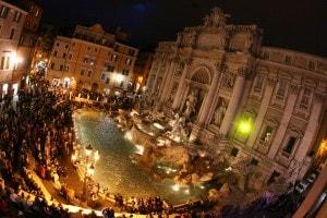 60esimo anniversario dei Trattati di Roma: la festa a Fontana di Trevi