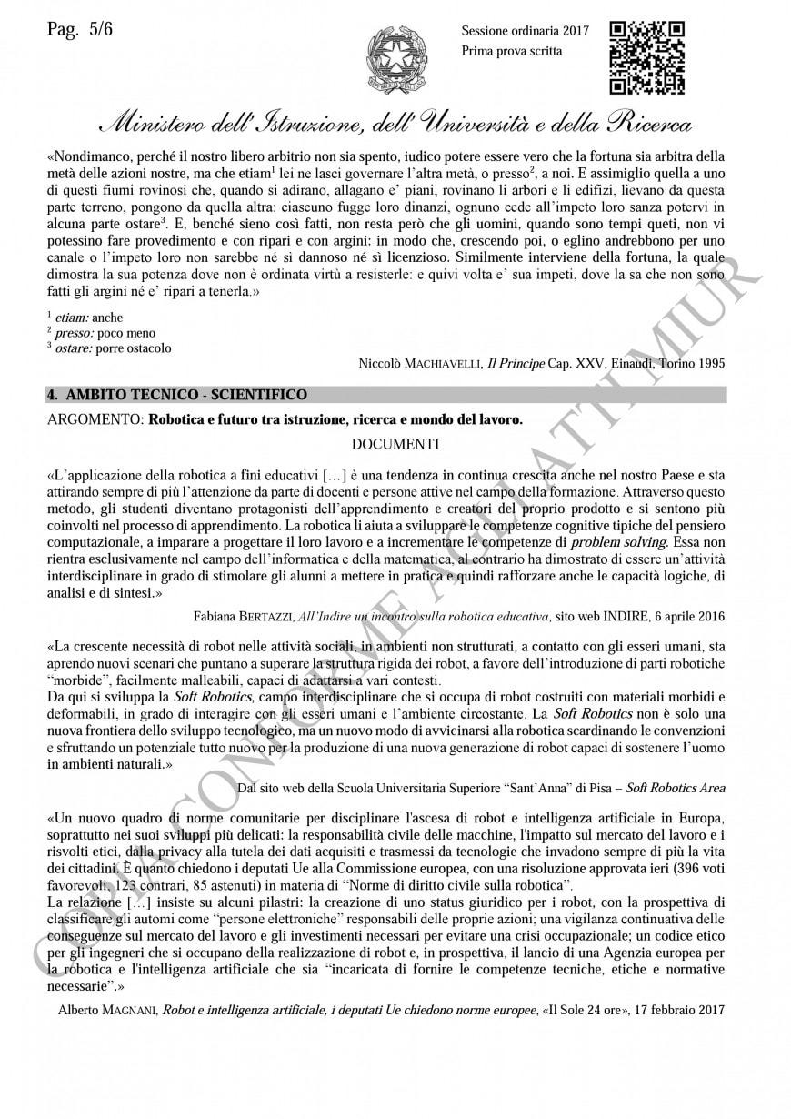 Tipologia B -  Ambito tecnico-scientifico
