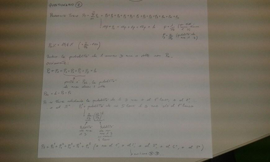 Foto seconda prova matematica 2017: soluzione quesito 8, parte 1