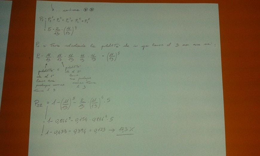 Foto seconda prova matematica 2017: soluzione quesito 8, parte 2