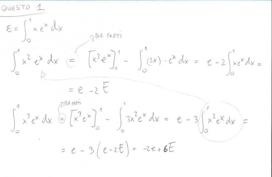 Foto seconda prova matematica 2017: soluzione quesito 1