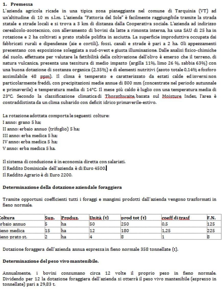 Foto traccia svolta gestione ambiente e territorio agraria seconda prova 2017