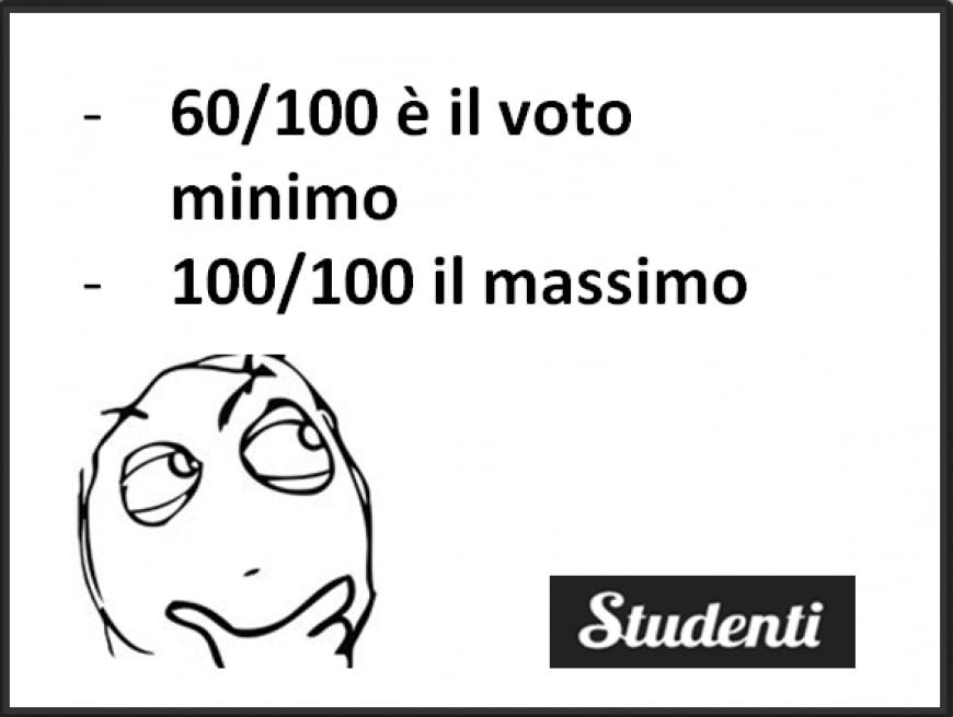 Voto minimo e voto massimo alla maturità