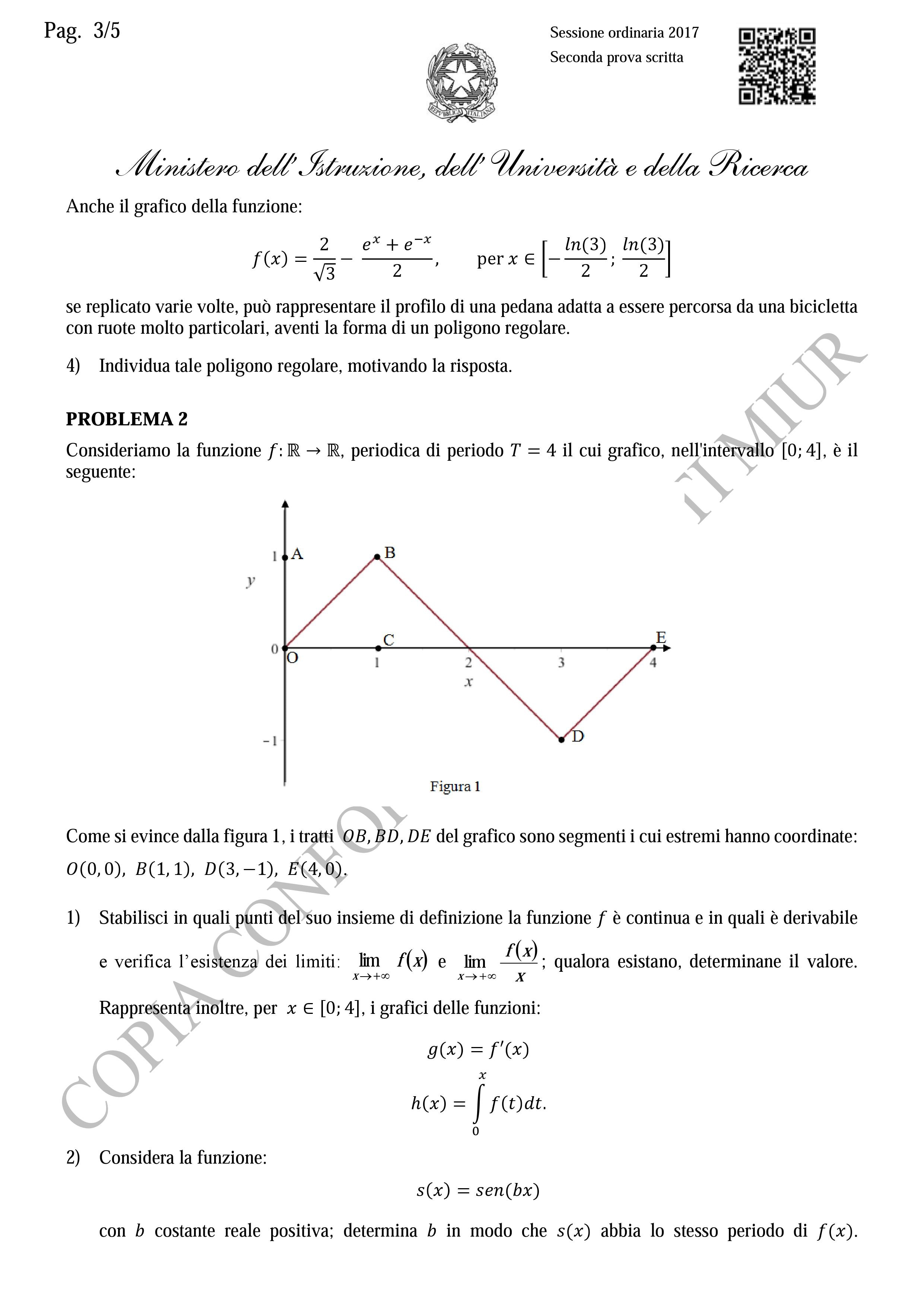 Traccia Matematica seconda prova Liceo Scientifico 2017 ...
