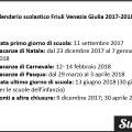 Calendario scolastico Friuli Venezia Giulia 2017-2018