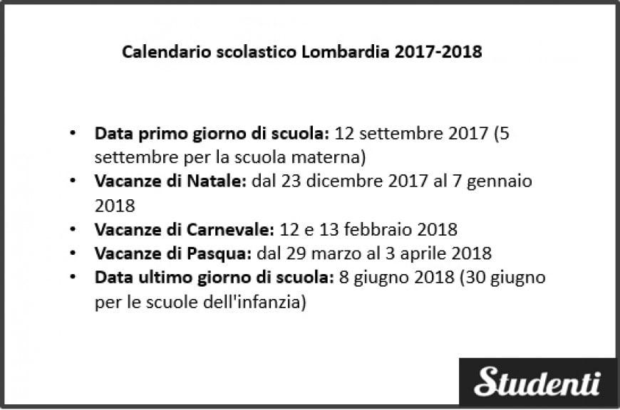 natale 2018 calendario Calendario scolastico Lombardia 2017 2018 | Calendario scolastico  natale 2018 calendario
