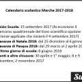 Calendario scolastico Marche 2017-2018