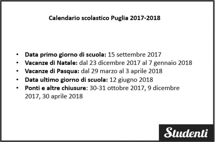 Calendario Venatorio Puglia Ultime Notizie.Calendario Scolastico 2018 2019 Puglia Calendario Www