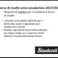 Borse di studio università 2017/18